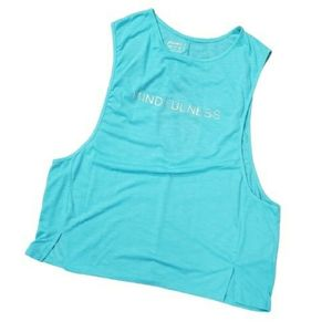 Workout Gym Active Tank Top Yoga Turquoise Blue